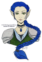 Commission: Caelynn The Cleric by SilverSugar