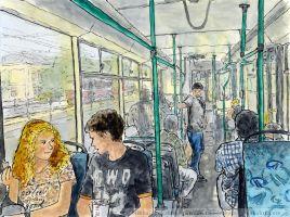 On a trolleybus in Sokolniki by Vokabre