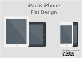 Ipad and iphone Flat-design By Raditeputut by raditeputut
