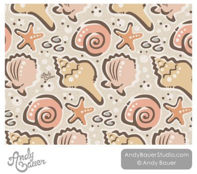 Seashells Surface Design and Pattern by Art-by-Andy