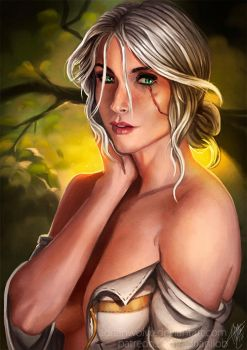 Ciri Portrait (NSFW available) by AdrianWolve