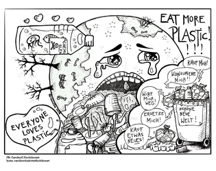 Eat more plastic! by Caroline-C-Finch