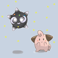 Pokemon - Cleffa And Minior