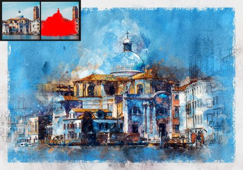 Watercolor 2 Artist Photoshop Action by GraphicAssets