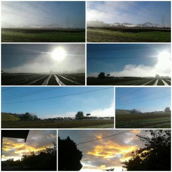 morning and evening collage by allentj