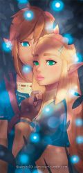 Zelda and Link Bookmark by jaimito