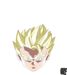 Super Saiyan Aura Gohan by hollowkingking