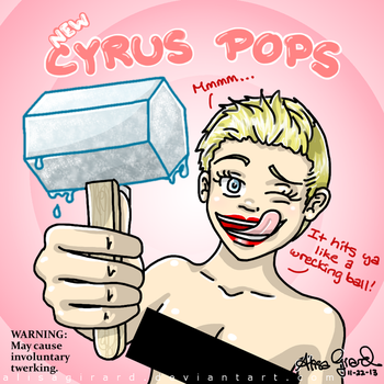 Miley Cyrus : Wrecking Ball Music Video Popsicles by OdieFarber