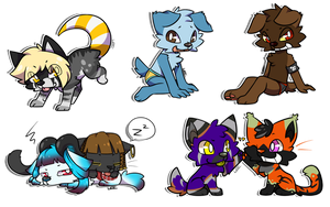 Chibi batch 4 by Leeomon