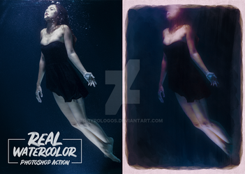 Real Watercolor Photoshop Action 2 by Byrologos