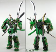 Musha Gundam Green 1 by Bang-Doll-SSI