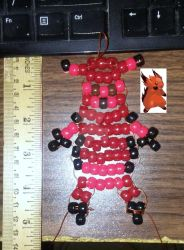 Bead Art: Flame Bear by SpellboundFox