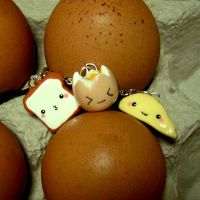 Toast and Eggy Friends by janeybaby