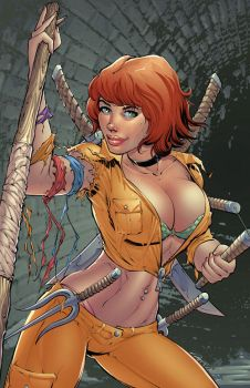 April O'Neil in color by DashMartin