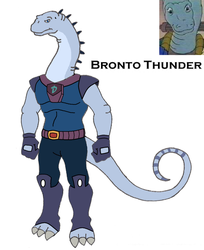 Dinosaucer: Bronto Thunder 2008 by HewyToonmore