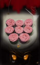 These are my so called Halloween cupcakes: Roses by Emerald-Sakura
