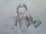 Bendy And The Eating Machine (REUPLOAD) by furbearingbrick
