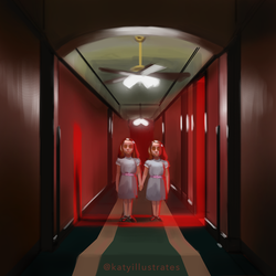 Day 80 - Twins from The Shining by katyillustrates