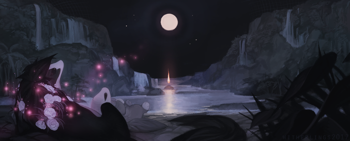 Supermoon by witherlings