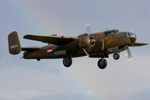 North American TB-25N Mitchell by Daniel-Wales-Images