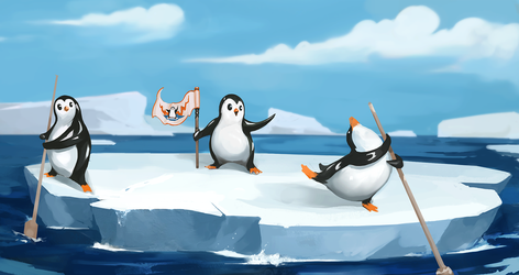 Penguin party by PaladinPainter