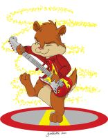 Alvin Rocking Out by gootastic