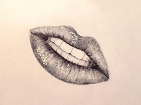 Ballpoint Lips by hieronymus83