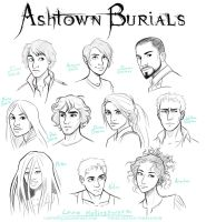 Ashtown Burials Characters by LauraHollingsworth