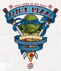 Ninja Turtles Pizza Hut Promo item @ SDCC by nakedDerby