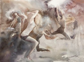 Dust Dancers, 46x61cm by NiceMinD