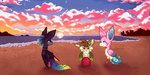 Red - Tropical Tori Squad  (Rainbow Event Entry) by LupinWulf