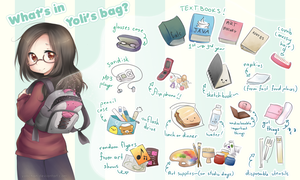 What's in Yoli's Bag: School edition by yolichan