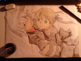 Soul Eater: Soul and Maka finished by PillePalle96
