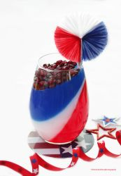 Happy 4th of July. Panna Cotta by theresahelmer