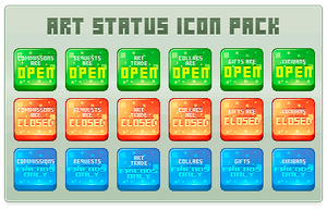 Art Status Icon Pack by Web5teR