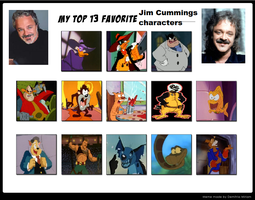 Top 13 Favorite Jim Cummings Characters by Prentis-65