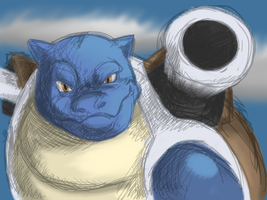 Blastoise by QuietCrystal