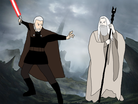 Saruman vs Count Dooku by LeoStar0012