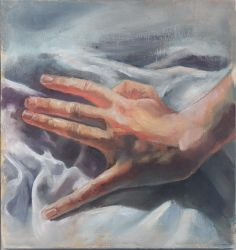 Hands oil study II by JeSSanchez