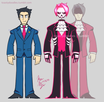 Ace Attorney Ghost AU by toastydoodles