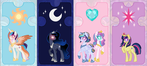 Mlp Next Gen Royals of the future by LunaApple