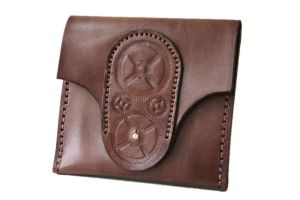 Steampunk Leather Wallet 2 by AmbassadorMann
