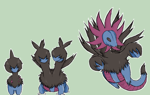 Pokemon Evolution Chain: #633-#635