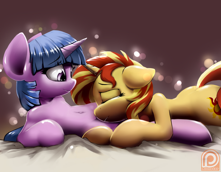 6.10 18 Twilight Sparkle and Sunset Shimmer by iloota