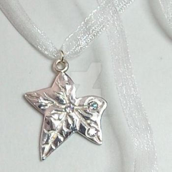 Fine Silver Leaf Pendant by crystalstargems
