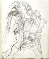 Punisher 19 cover pencil by simonebianchi
