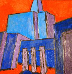 Abstract of LDS Temple by Zach-Bowie