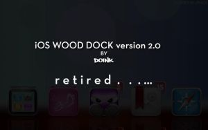 iOS Wood Dock by d0ink