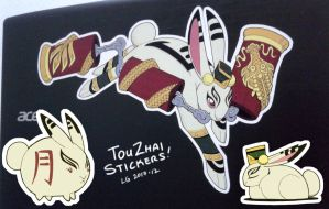 Touzhai Stickers test pieces by lgliang