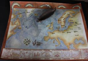 Viking Voyages Map II by HelevornArt